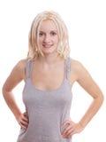 有白肤金发的dreadlocks的少妇 免版税库存图片