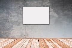 有白色图片2:3的混凝土墙 图库摄影