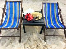 有白色圆点的红色盖帽,草帽,花,书和唱歌 免版税库存照片