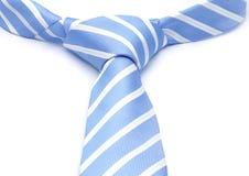 有白色小条的蓝色领带 免版税库存图片