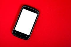 有白色屏幕的接触智能手机 库存图片