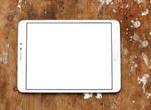 有白色屏幕的片剂个人计算机 免版税库存照片