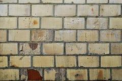 有白色砖的老砖墙 免版税库存图片