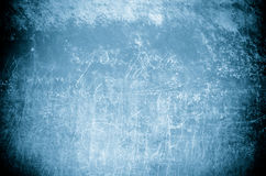 有白色词的难看的东西蓝色墙壁 库存图片