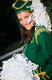 有的中断军乐队女队长年轻人 免版税图库摄影