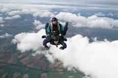 有的乐趣跳伞运动员二 库存照片