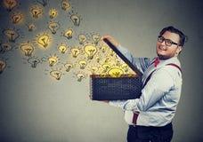 有的人大量创造性的想法 免版税库存图片