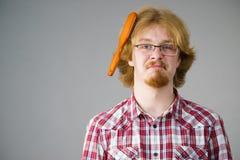 有的人掠过的头发的问题 库存图片