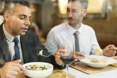 有的商人午餐餐馆概念 免版税库存图片