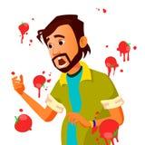 有的商人蕃茄失败讲话传染媒介 不成功的介绍 坏公开讲话 食用印地安的人蕃茄 免版税库存图片