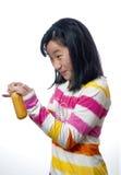 有的女孩快餐时间 免版税库存照片