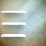有的室墙壁shelfs雪花。EPS 10 免版税库存图片