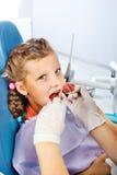 牙齿核对 库存照片