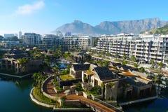仅有的表山旅馆和看法在开普敦,南非 免版税库存照片