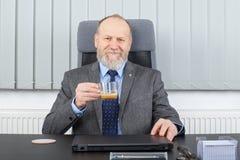 有的经理咖啡休息 免版税图库摄影