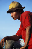 有皮革帽子的,巴西农民 库存图片