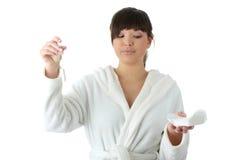 有益健康的棉塞 免版税库存图片