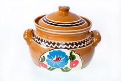 有盒盖的陶瓷罐 库存照片