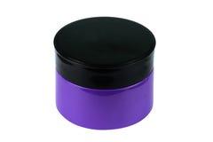 有盖帽的化妆包装,奶油、粉末或者胶凝体瓶子 库存照片