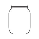 有盖帽的空白的瓶子 免版税库存图片