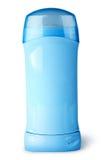 有盖帽的蓝色防臭剂容器 库存照片