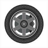 有盘式制动器的车轮 皇族释放例证