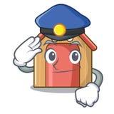 有盘的警察动画片滑稽的犬小屋 向量例证