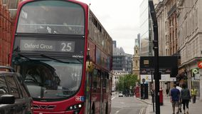 有目的地牛津马戏的公共汽车 影视素材