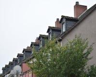 有相似的样式的屋顶 免版税图库摄影