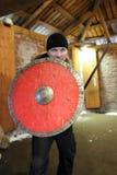 有盾和剑的人 图库摄影