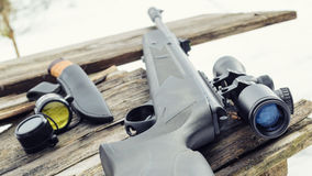 有瞄准具的气动力学的步枪 免版税库存图片