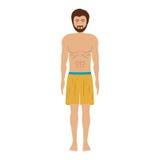 游泳的黃色人短褲圖片
