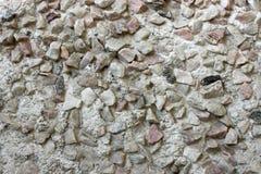 有石头的混凝土墙 库存照片