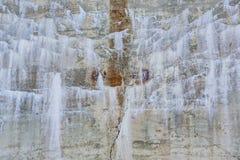 有石灰化和铁锈的背景墙壁 图库摄影