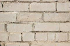 有砖砌的墙壁 灰色砖 免版税库存图片
