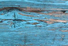 有破裂的油漆的,葡萄酒,木头,背景老蓝色委员会 库存照片