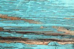 有破裂的油漆的,葡萄酒,木头,背景老蓝色委员会 图库摄影