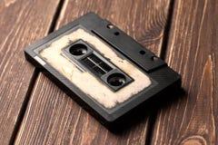 有磁带的卡型盒式录音机 免版税库存照片