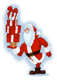 有礼品的圣诞老人 免版税库存图片