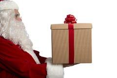 有礼物的圣诞老人 免版税库存图片