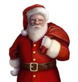 有礼物的圣诞老人 免版税库存照片