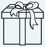 有礼物的箱子 免版税库存照片