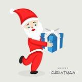 有礼物盒的圣诞老人圣诞快乐庆祝的 皇族释放例证