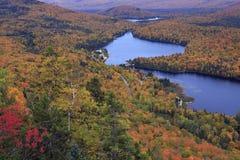 有秋天颜色的Mont Tremblant国家公园 库存图片