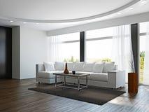 有空白沙发的客厅 免版税库存图片