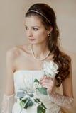 有空白的新娘起来了 免版税库存照片