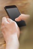有空白的灰色屏幕的智能手机 免版税库存照片
