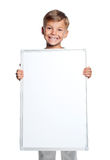 有空白空白的小男孩 图库摄影