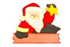 有空白符号的圣诞老人 免版税库存图片
