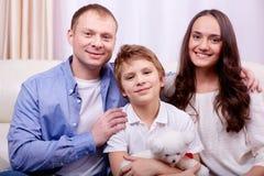 有空的家庭 免版税库存照片